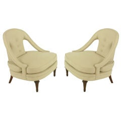 Pair Of 1940s Open Arm Lounge Chairs