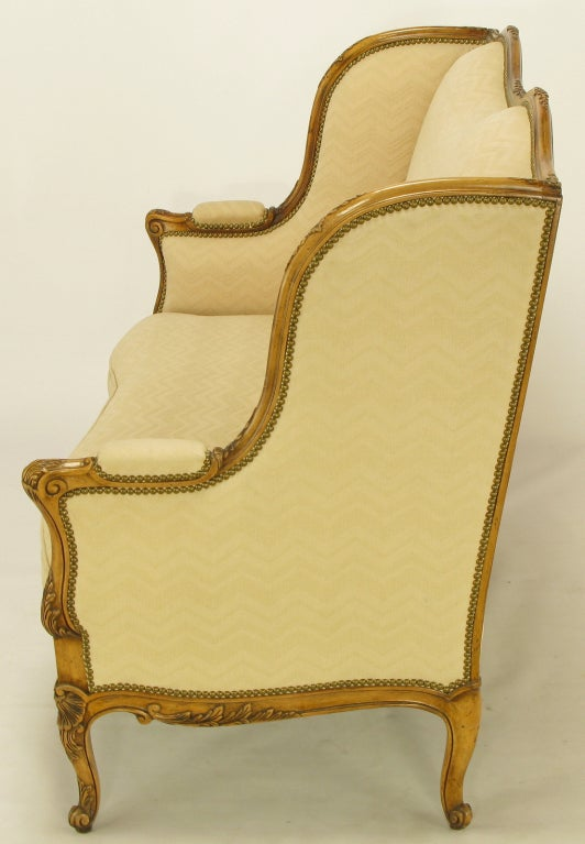 Mid-20th Century Yale Burge Reproductions Louis XV Wingback Settee