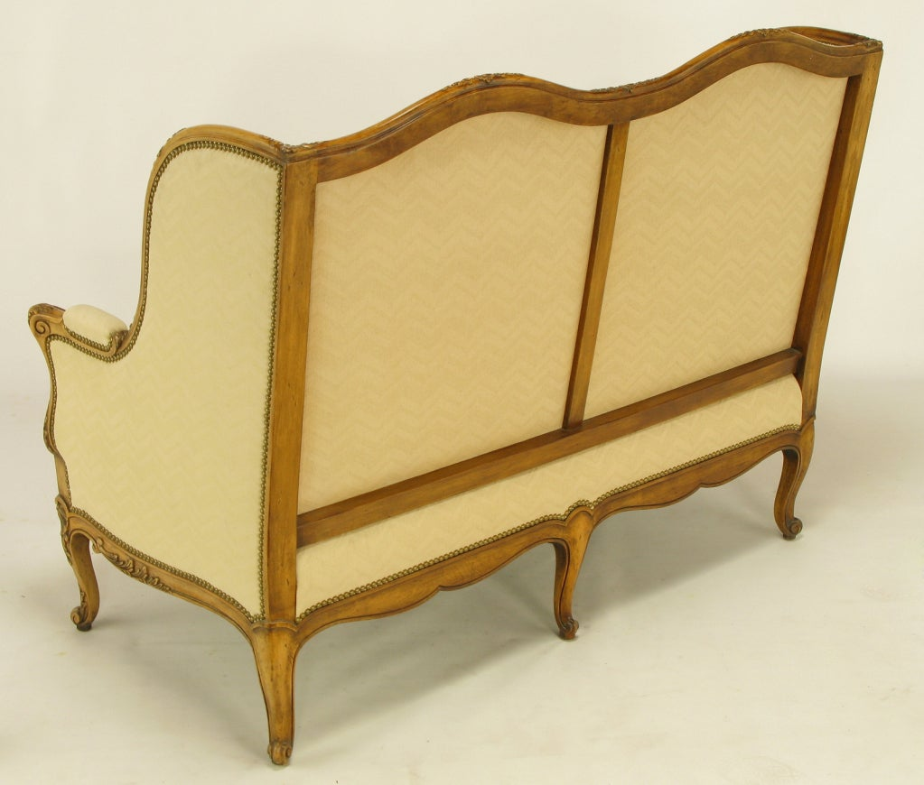 Upholstery Yale Burge Reproductions Louis XV Wingback Settee
