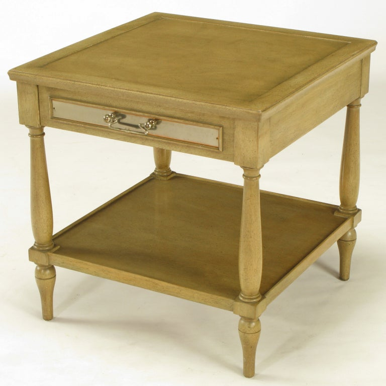 Fine Arts Furniture Co Driftwood Glazed Mahogany Side Table For Sale At 1stdibs