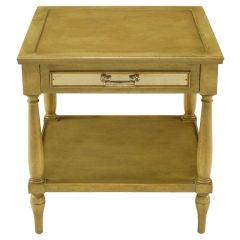 Fine Arts Furniture Co. Driftwood Glazed Mahogany Side Table