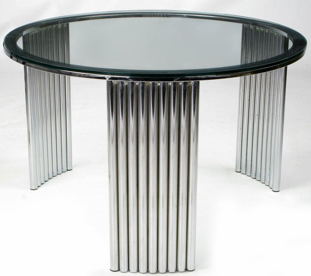 Art Deco Coffee Table Brisbane: Art Deco Tubular Chrome Coffee Table Attr. Vermillion Of