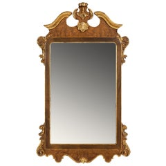 La Barge Italian Burl & Gilt Georgian Style Mirror