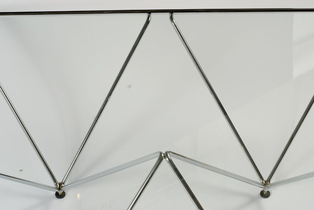 Chromed Steel Pyramidal Base Coffee Table After Paolo Piva For Sale 2