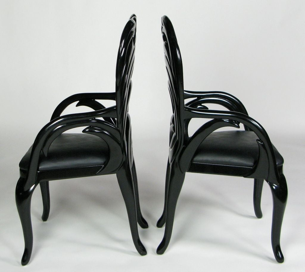 Black Lacquer Dining Chairs Six Italian Black Lacquer  : 841913296915803 from amlibgroup.com size 1024 x 915 jpeg 82kB