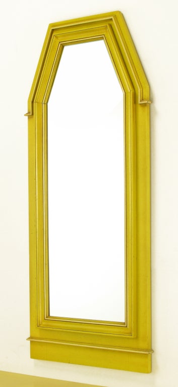 Neoclassical Console & Mirror In Glazed Yellow Lacquer image 6