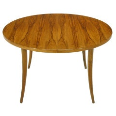 Exquisite Harvey Probber Rosewood & Saber Leg Dining Table.