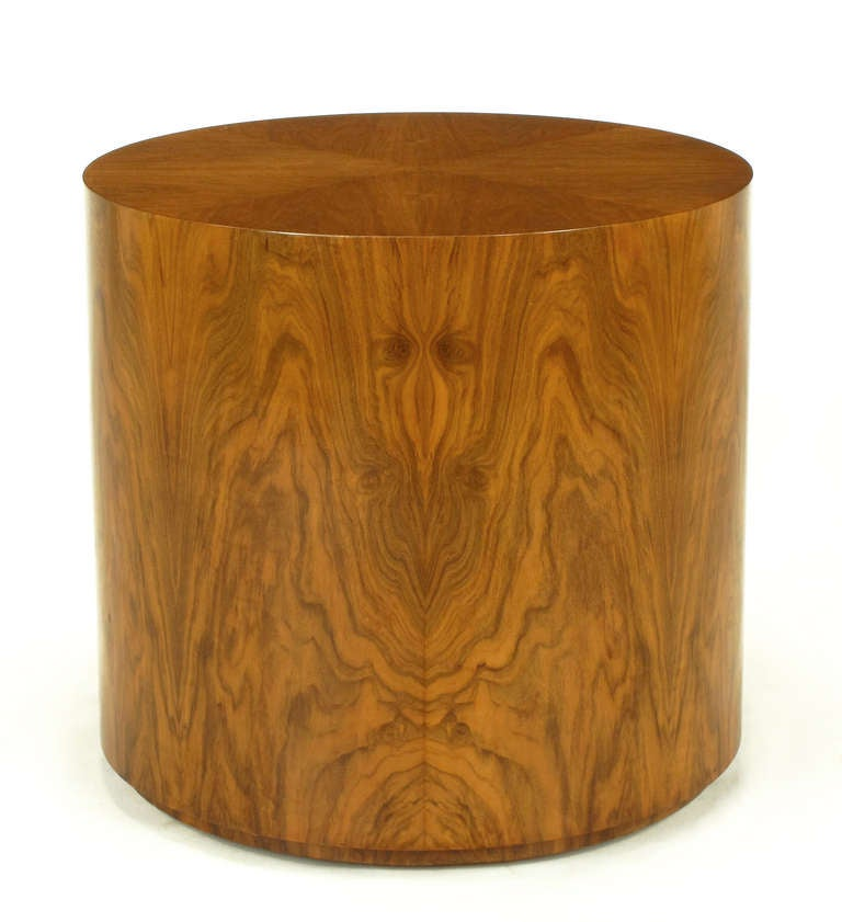 Highly Figured Walnut Pedestal Coffee Table For Sale At 1stdibs
