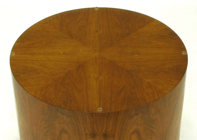 Highly Figured Walnut Pedestal Coffee Table For Sale 2