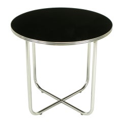 Wolfgang Hoffmann Art Deco Chrome & Black Micarta Center Table