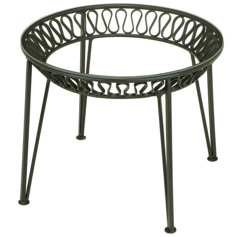 Maurizio tempestini for salterini wrought iron side table for Wrought iron side table