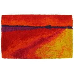 6' X 9' Rya Scandinavian Rug In Scarlet, Violet & Saffron