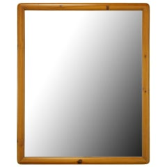 Franklin Shockey Rustic Modern Heart Pine Mirror