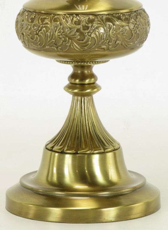 Elegant Rembrandt Brushed Brass Table Lamp For Sale 1