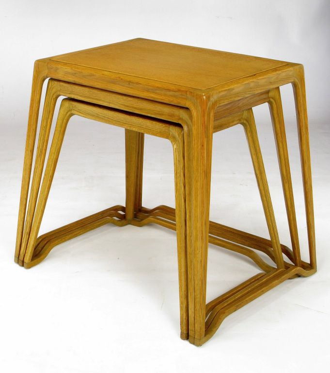 Nesting Snack Tables ~ Romweber nesting tray tables by harold m schwartz at stdibs