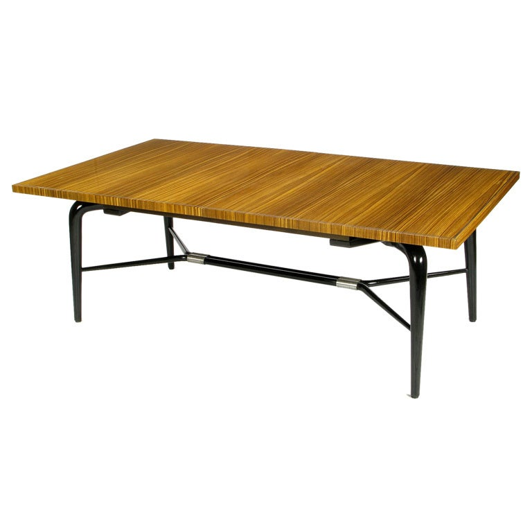 macassar ebony black lacquer dining table is no longer available