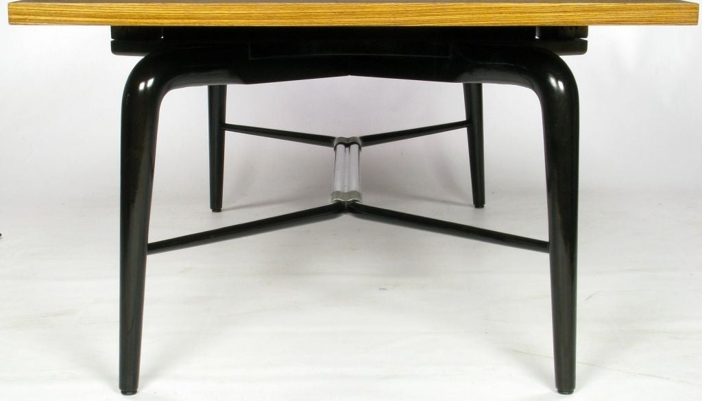 Young Macassar Ebony And Black Lacquer Dining Table At 1stdibs
