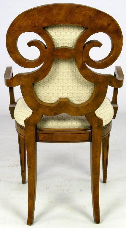 Six William Doezema Biedermeier Dining Chairs for Mastercraft 5