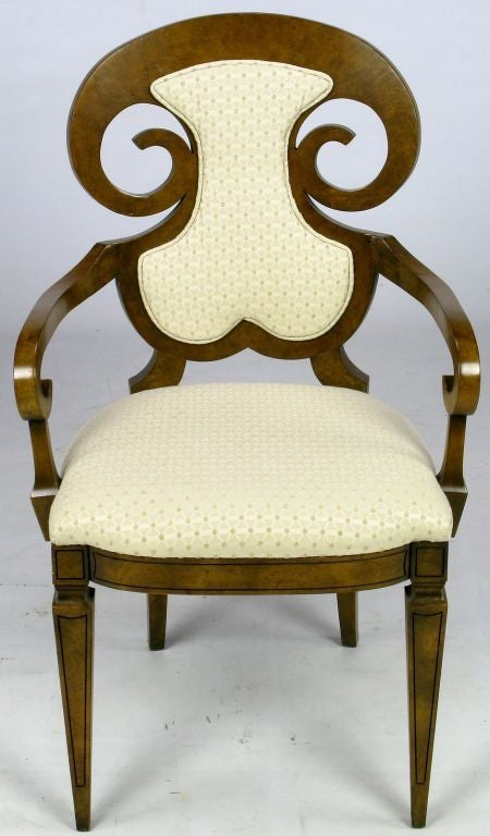 American Six William Doezema Biedermeier Dining Chairs for Mastercraft For Sale