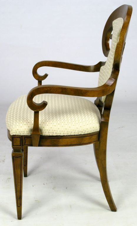 Mid-20th Century Six William Doezema Biedermeier Dining Chairs for Mastercraft For Sale