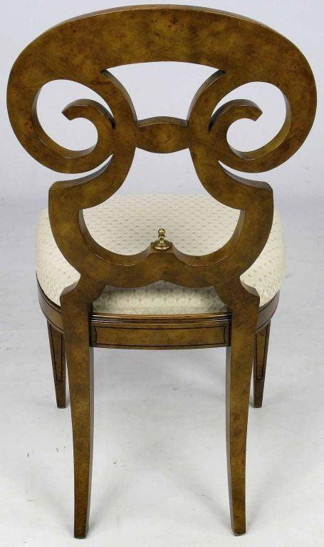 Six William Doezema Biedermeier Dining Chairs for Mastercraft 2