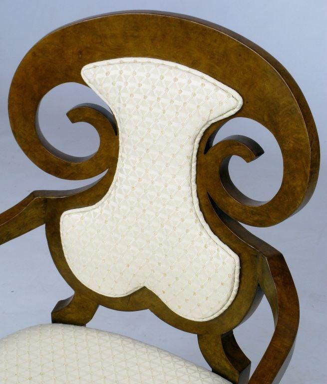Six William Doezema Biedermeier Dining Chairs for Mastercraft 3