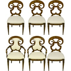 Six William Doezema Biedermeier Dining Chairs for Mastercraft