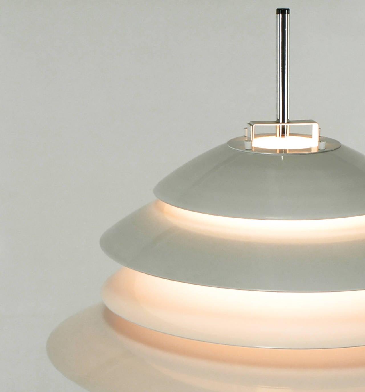 Aluminum Sonneman Chrome and White Enamel Floor Lamp For Sale
