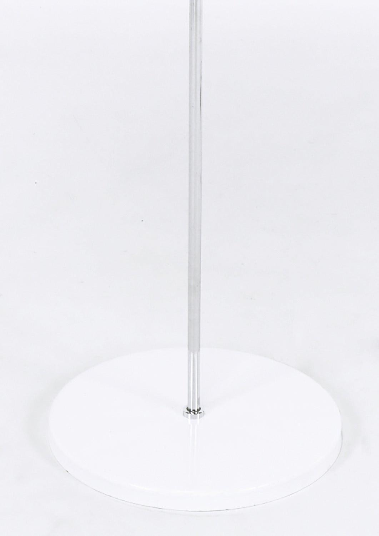 Sonneman Chrome and White Enamel Floor Lamp For Sale 1