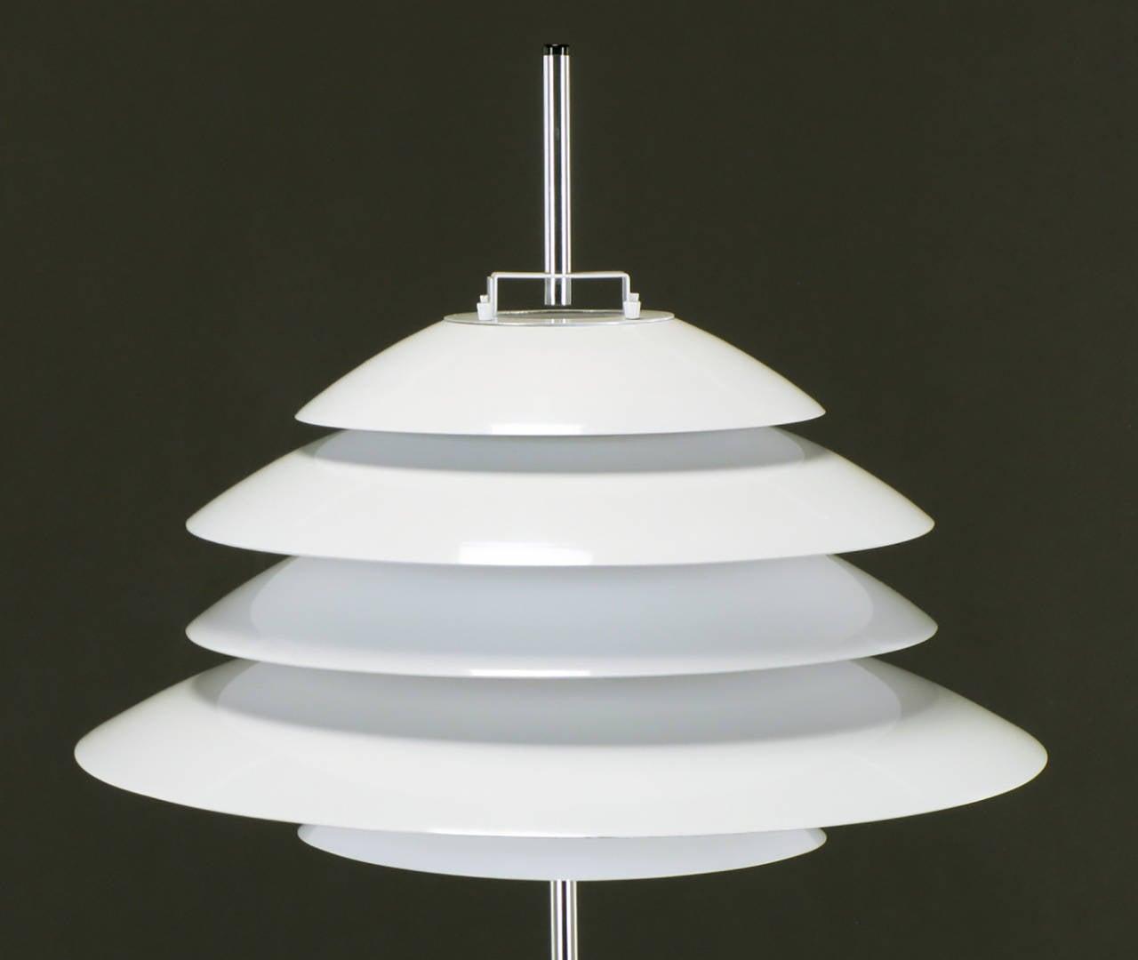 Sonneman Chrome and White Enamel Floor Lamp For Sale 2
