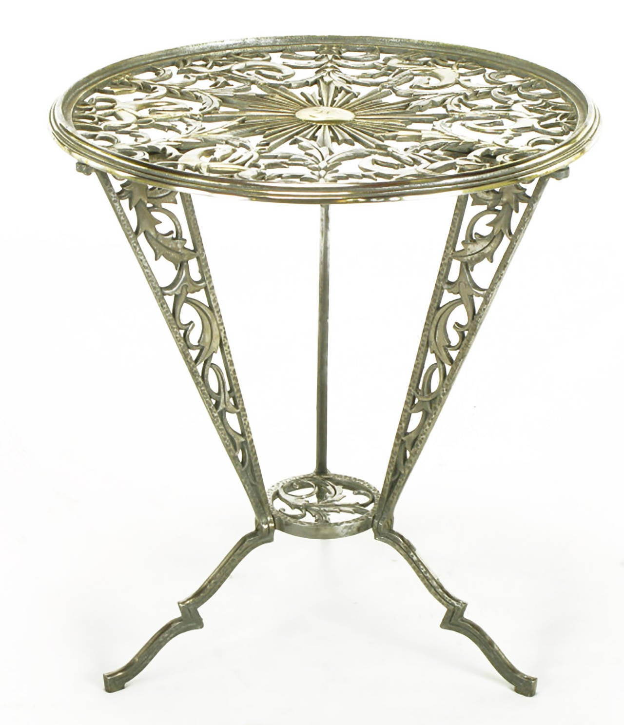 American Rena Rosenthal Cast Metal Art Deco Table For Sale