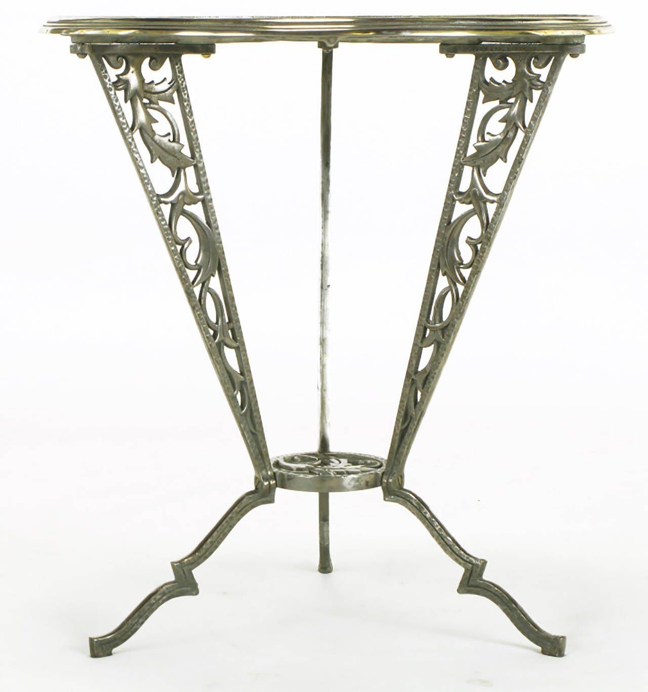 Rena Rosenthal Cast Metal Art Deco Table In Excellent Condition For Sale In Chicago, IL