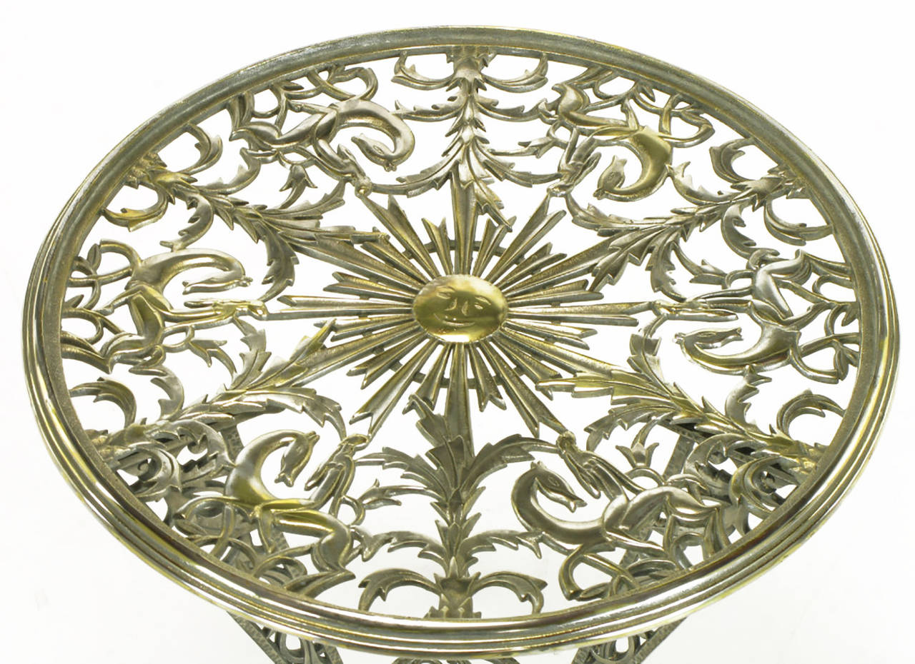 Mid-20th Century Rena Rosenthal Cast Metal Art Deco Table For Sale
