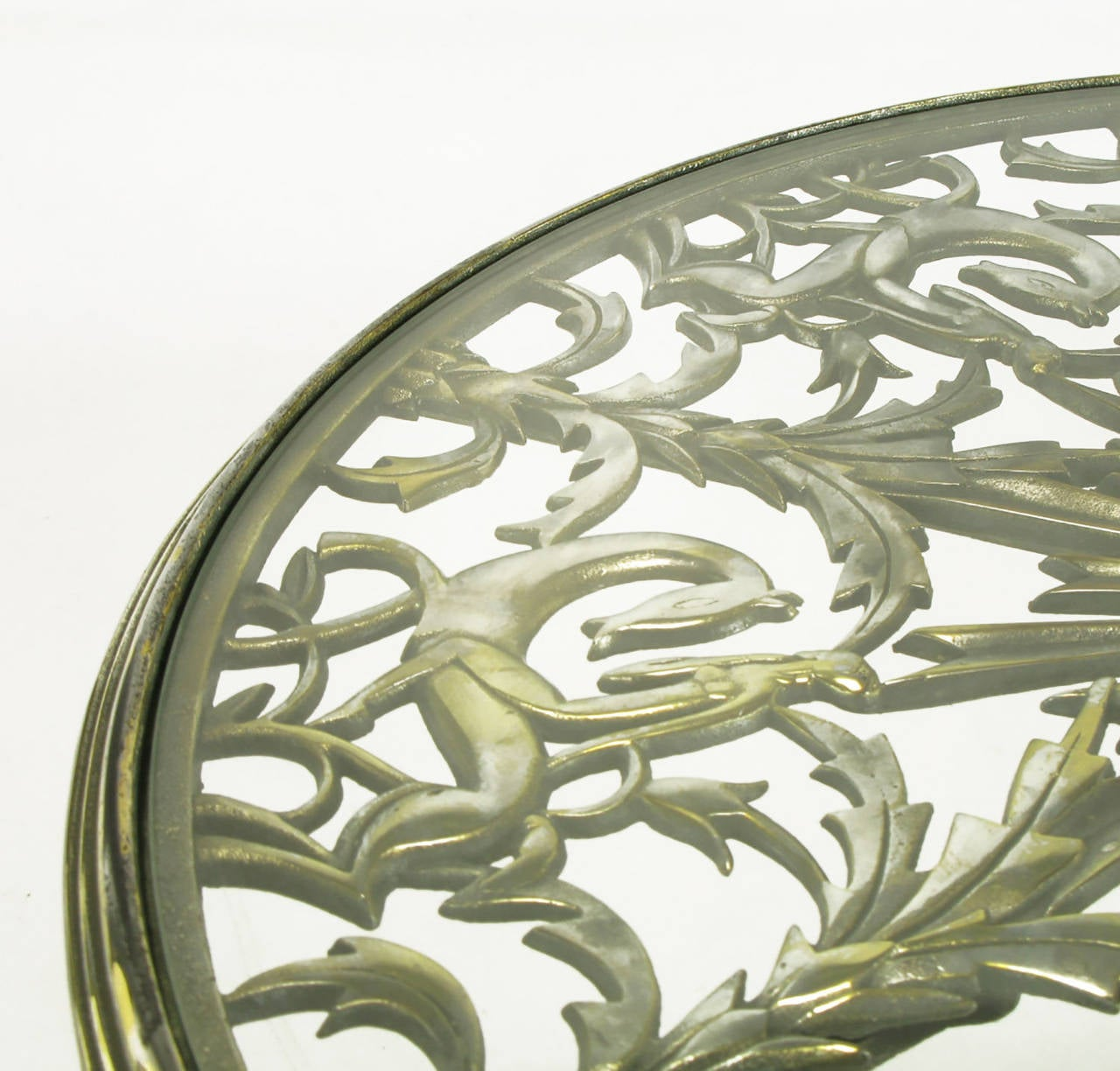 Rena Rosenthal Cast Metal Art Deco Table For Sale 2
