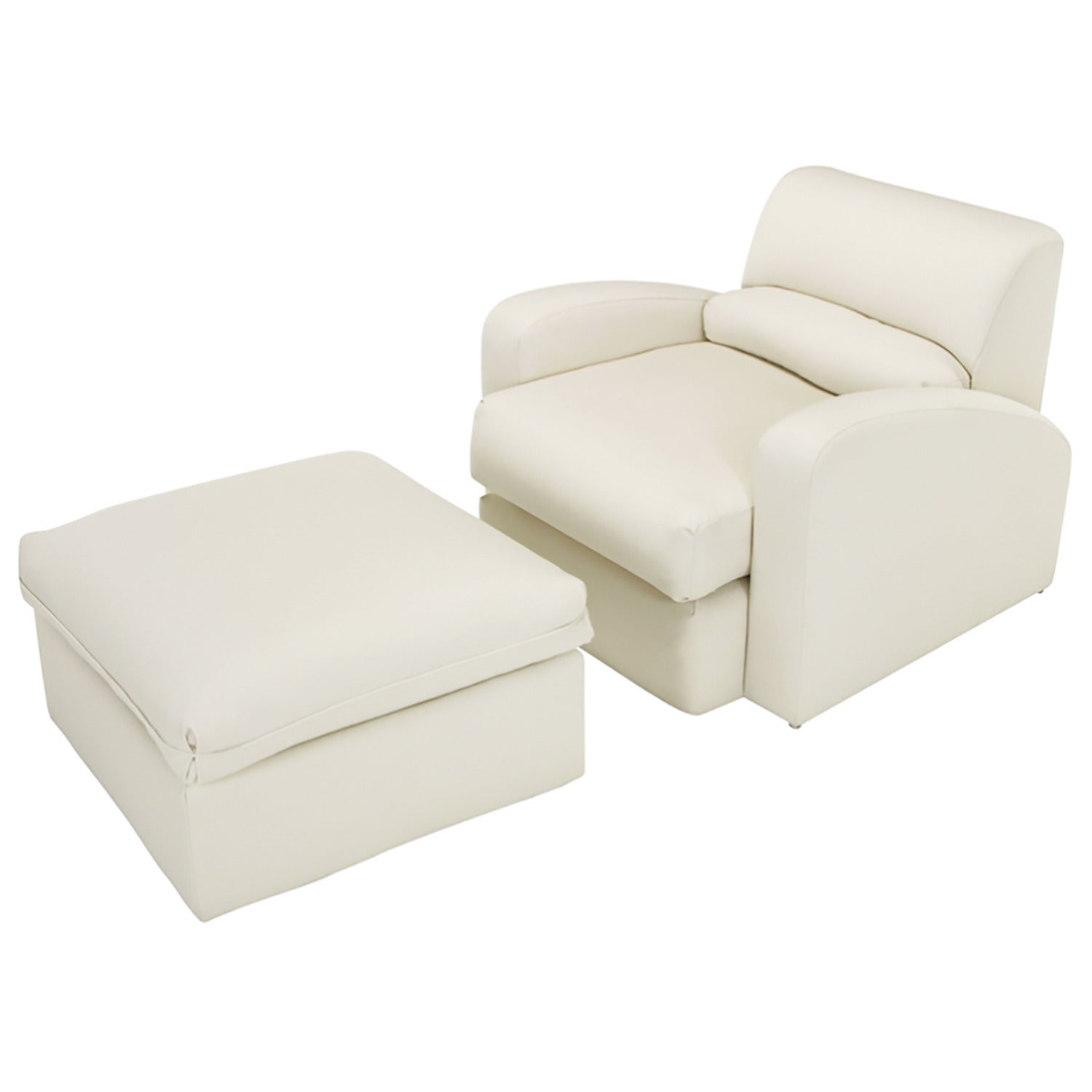 Jay Spectre Steamer Lounge Chair with Ottoman
