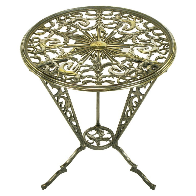 Rena Rosenthal Cast Metal Art Deco Table For Sale