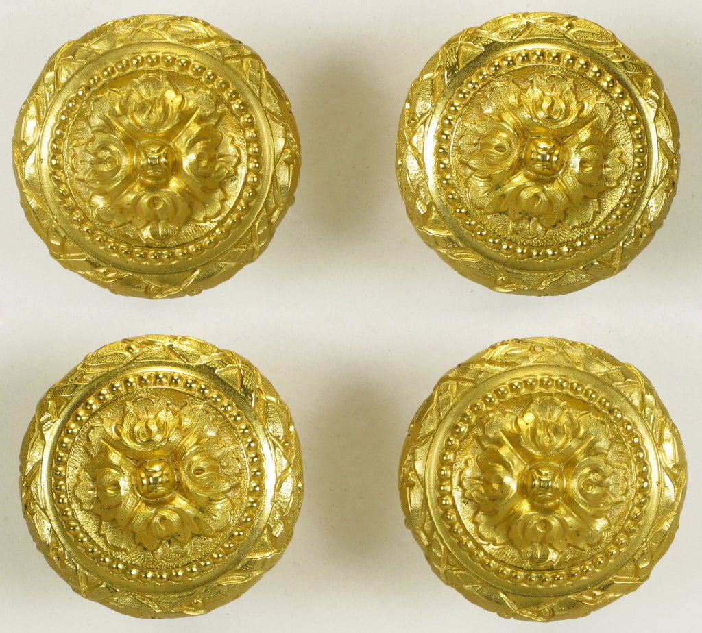 Collection Of Vintage Sherle Wagner Gold Plated Bronze Pulls 5