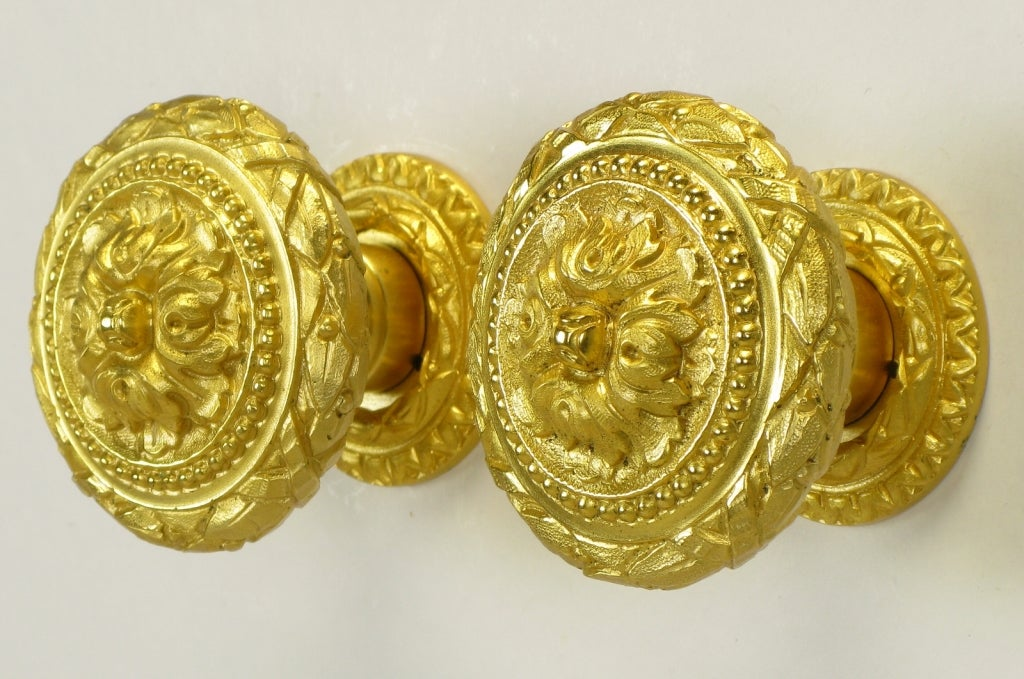 Collection Of Vintage Sherle Wagner Gold Plated Bronze Pulls 6