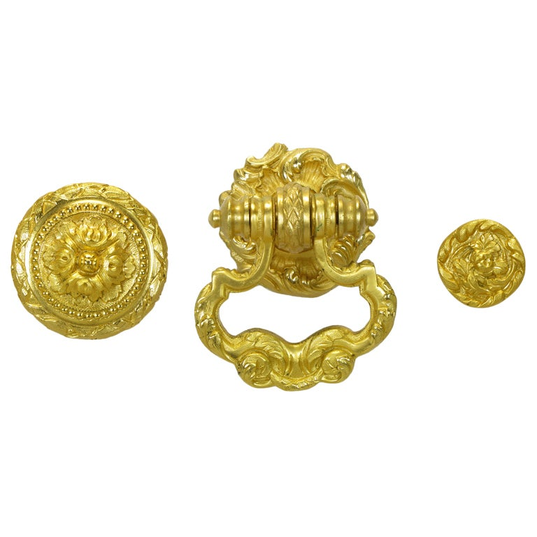 Collection Of Vintage Sherle Wagner Gold Plated Bronze Pulls 1