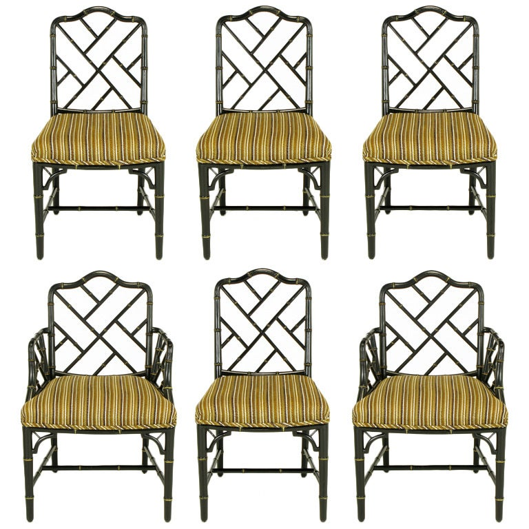 chinese chippendale dining chairs  3