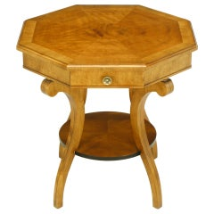 Regency Inspired Mahogany and Walnut End Table by John Widdicomb