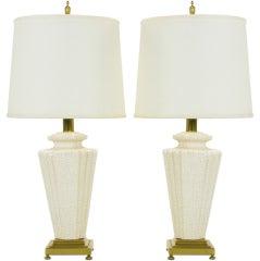 Pair Rembrandt Art Deco Pottery Lamps