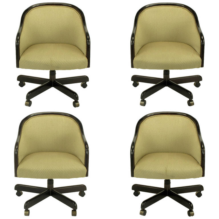Four Ward Bennett Quot Banker Quot Executive Swivel Chairs At 1stdibs