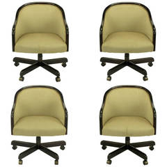 "Four Ward Bennett ""Banker"" Executive Swivel Chairs"
