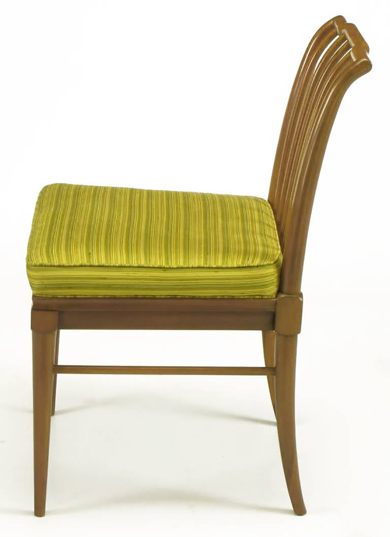 Six J. Stuart Clingman Dining Chairs by John Widdicomb In Good Condition For Sale In Chicago, IL