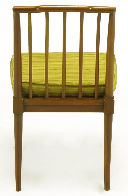 Silk Six J. Stuart Clingman Dining Chairs by John Widdicomb For Sale