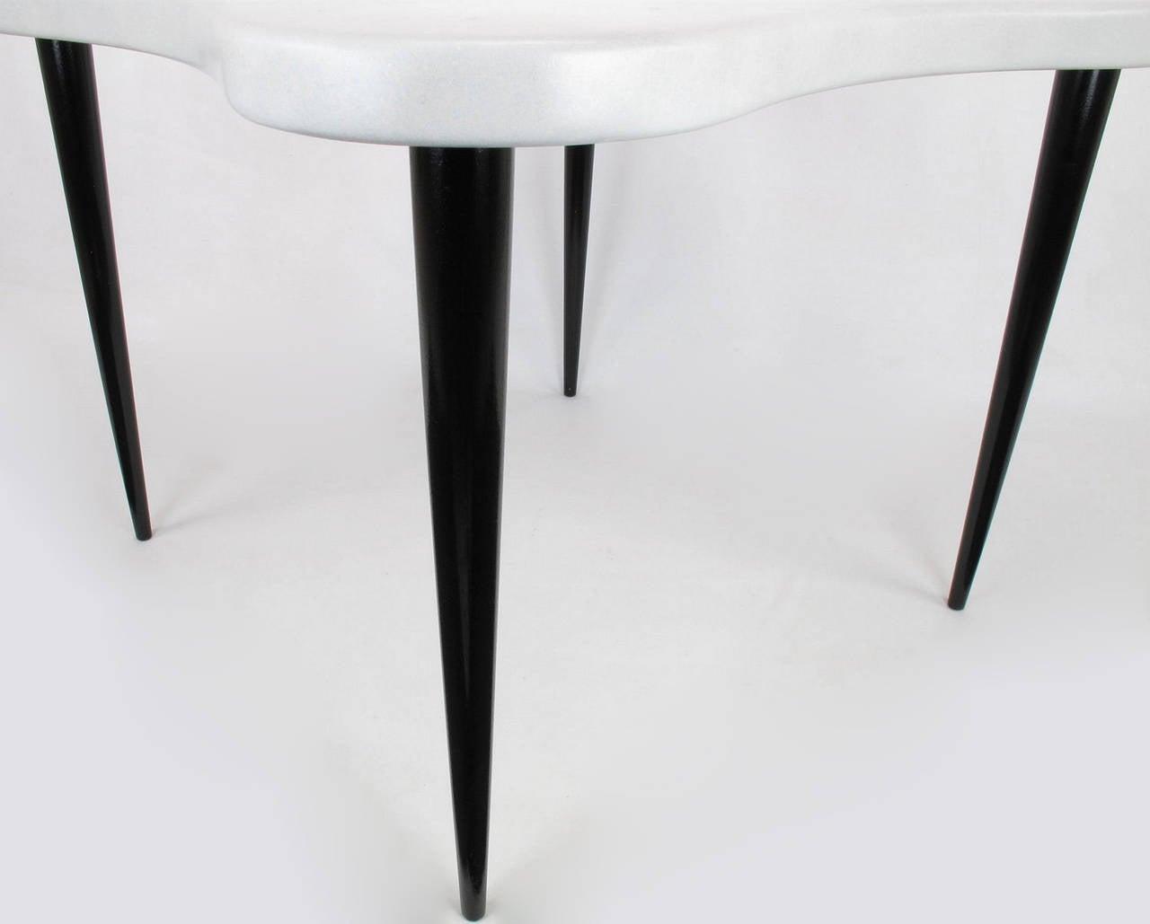 Paul Frankl Cork Top Quatrefoil Game Table For Sale 1