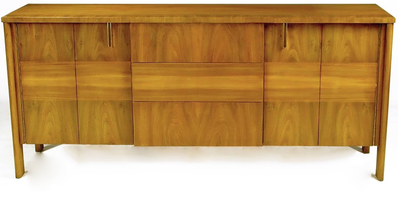 Mid 20th Century Dale Ford Walnut And Cane Sideboard By John Widdicomb For  Sale