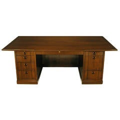 Edward Wormley Walnut and Rosewood Executive Desk