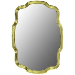 Large Solid Brass Frame Regency Mirror